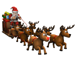 Father Christmas comes to town
