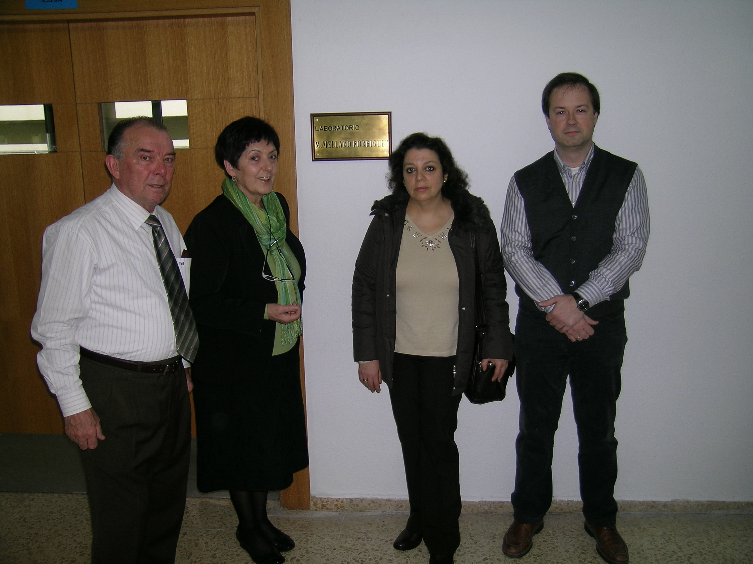 Carolina Mellado con Vítor Etxebarria, Esther Alonso y Jose M. Tarela