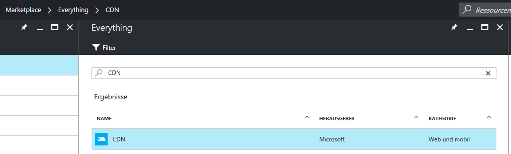 Azure Create CDN
