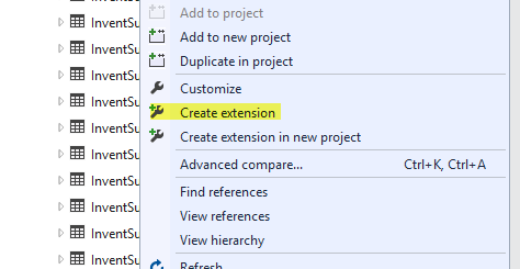 AX7 Create Table Extension