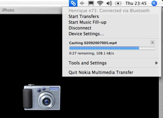 iPhoto sincronizando com o N73