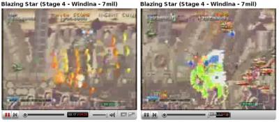 Flash (í esquerda) vs. Gnash (í direita). Note os controles incorretos no Gnash