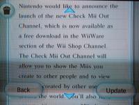 Carta anunciando a estréia do Check Mii Out!
