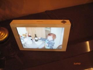 Porta-retratos touchscreen