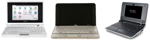 Asus eeePC, HP 2133 Mini-Note PC e Positivo Mobo