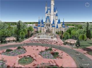 O castelo da Cinderela no Google Earth