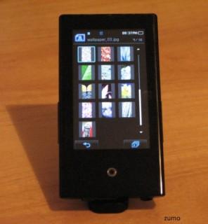 Samsung P2: tela principal para navegar entre as fotos