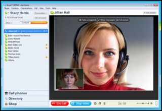 Tela do Skype 4 beta