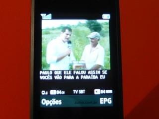 V820L: TV digital no aparelho no modo normal