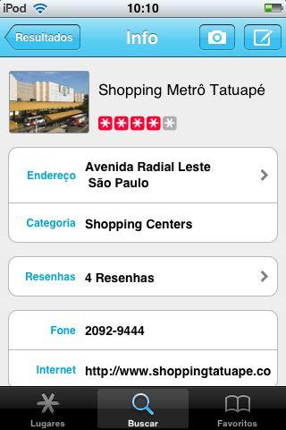 Qype: descrição de local e avaliação do usuário
