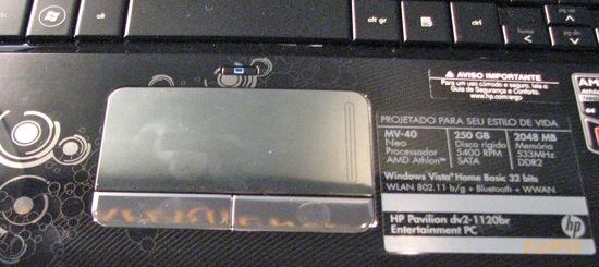 detalhe do touchpad do 1120br