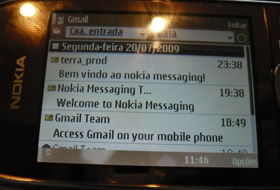 Nokia Messaging no E75
