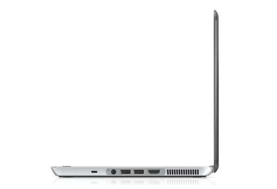 HP Envy13 - left open profile on white