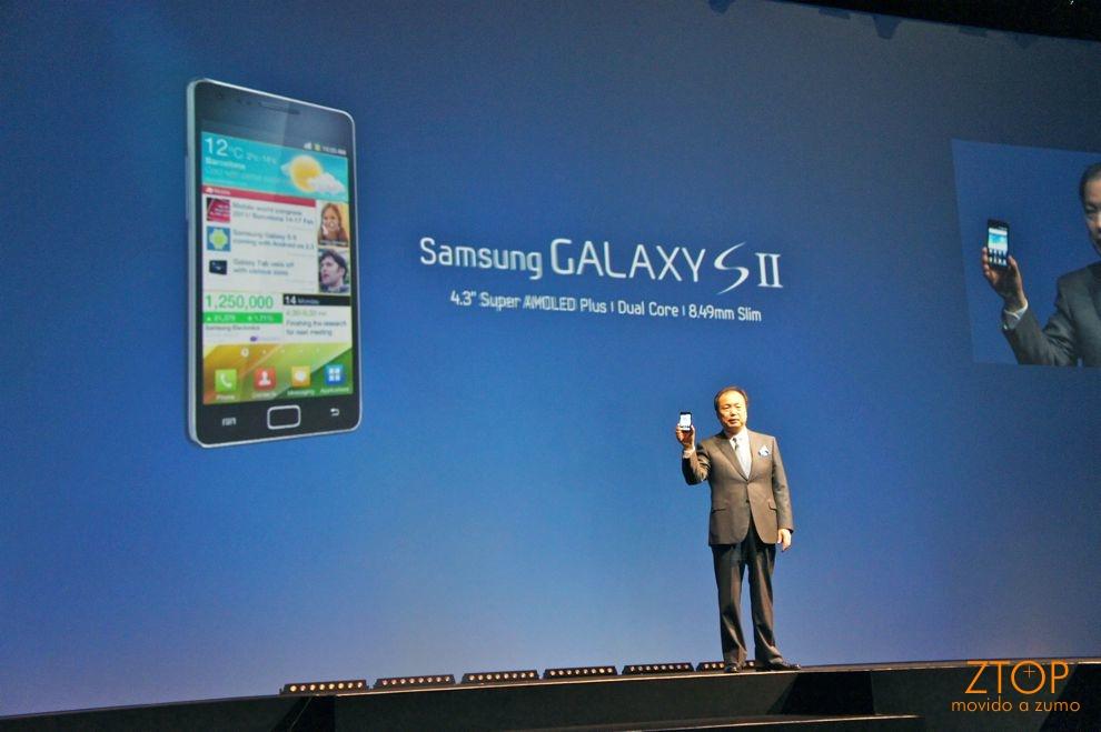 J.K. Shin apresenta o Samsung Galaxy S II