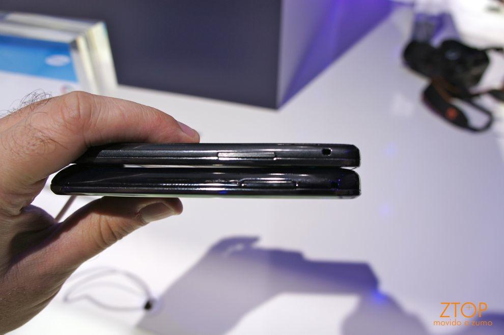 Galaxy S ao lado do Galaxy S II