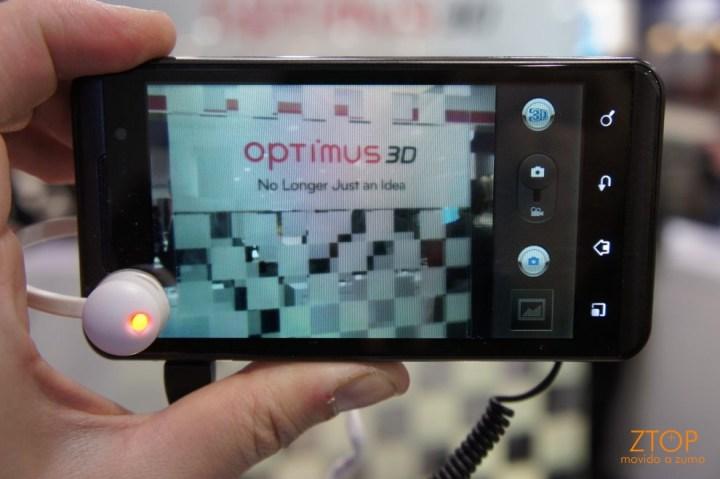 LG Optimus One 3D com a câmera ligada - modo 3D (de novo)