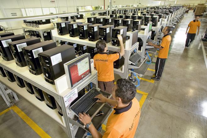 zona de testes de PCs e instalação de sistema operacional