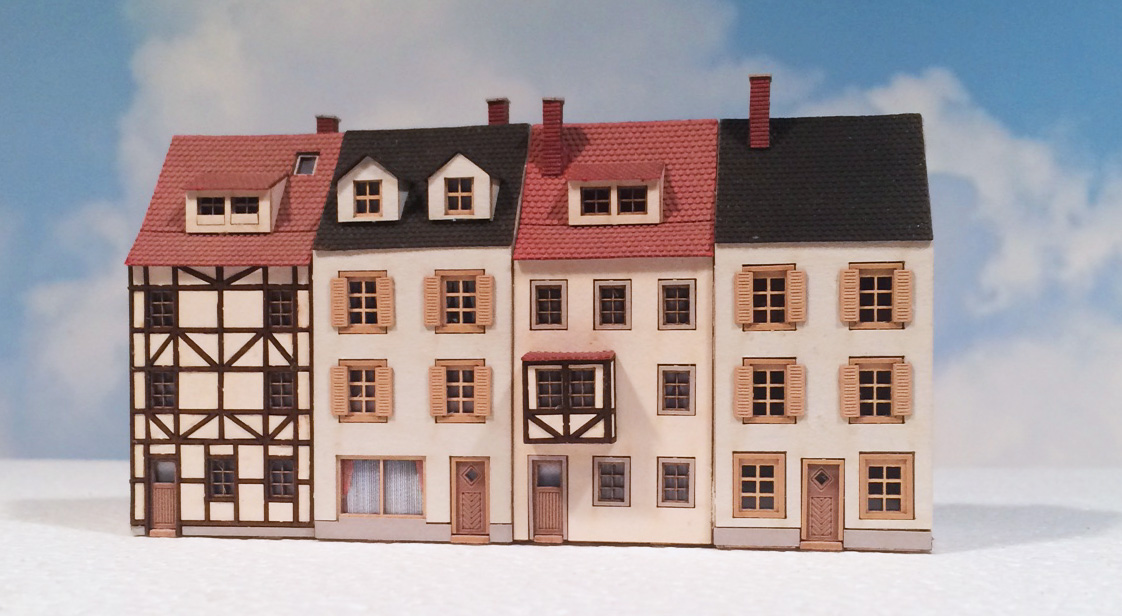 Faller 282781 Provincial Houses Z Scale Building Kit