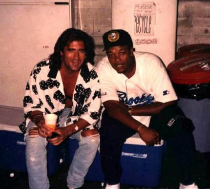 WIth Dr Dre during Funky Flute fliming