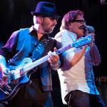 WIth Dave Stewart, tearin' the roof off the sucka at the Whisky a Go Go in Hollywood (with Orianthi) - 2013 - courtesy & copyright Robert King