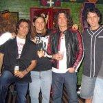 With Jaguares - Vampiro, Saul Hernandez, Leo Munoz, House of Blues Sunset Strip, 2005 - courtesy Frank Colin