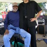 With Stix Hooper, Solvang Jazz Festival, 2007 - courtesy Frank Colin