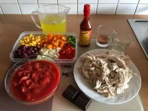 Zubereitung Pulled Chicken Chili Con Carne