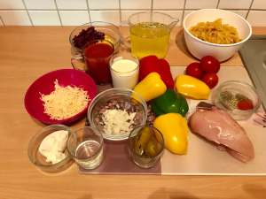 One Pot Chicken Salsa Pasta Zutaten