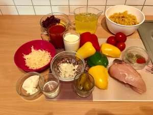 One Pot Chicken Salsa Pasta Zutaten