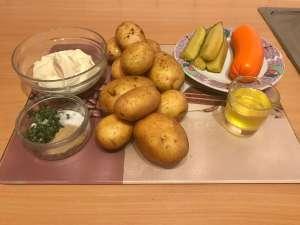 Pellkartoffelsalat mit Joghurt Zutaten