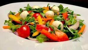 Rucola Salat mit Balsamico Senf Dressing Zutaten