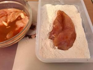 Crispy Chicken Burger Zubereitung