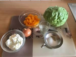 Eisbergsalat mit Mandarinen Zutaten