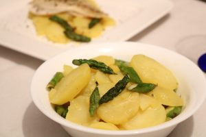 Kartoffelsalat mit grünem Spargel Zubereitung