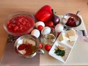 Shakshuka mit Feta Käse  Zutaten