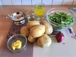 Kartoffelsalat mit Rucola Zutaten