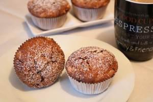 Apfel Nutella Muffins mit Schokoladen Raspeln