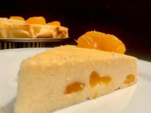Käsekuchen mit Mandarinen Serviervorschlag