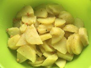 Kartoffelsalat mit Rucola Zubereitung