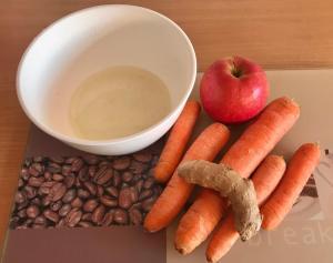 Karotten Apfel Salat mit Ingwer Zutaten