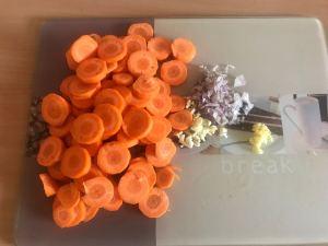 Karotten Ingwer Kokos Creme Suppe Vorbereitung