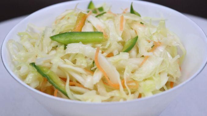 Serviervorschlag Krautsalat mit Karotten und Paprika