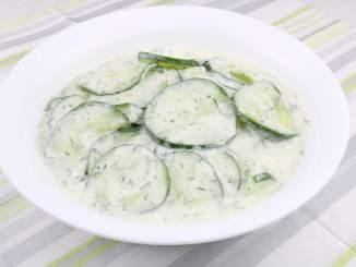 Salat Beilage Dill Gurkensalat mit Saurer Sahne