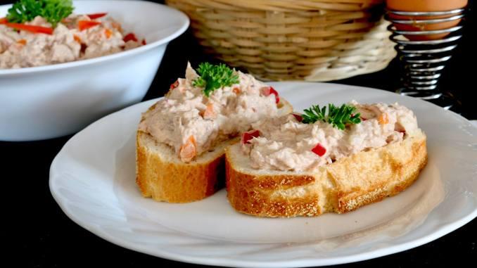 Thunfisch Salat mit Paprika