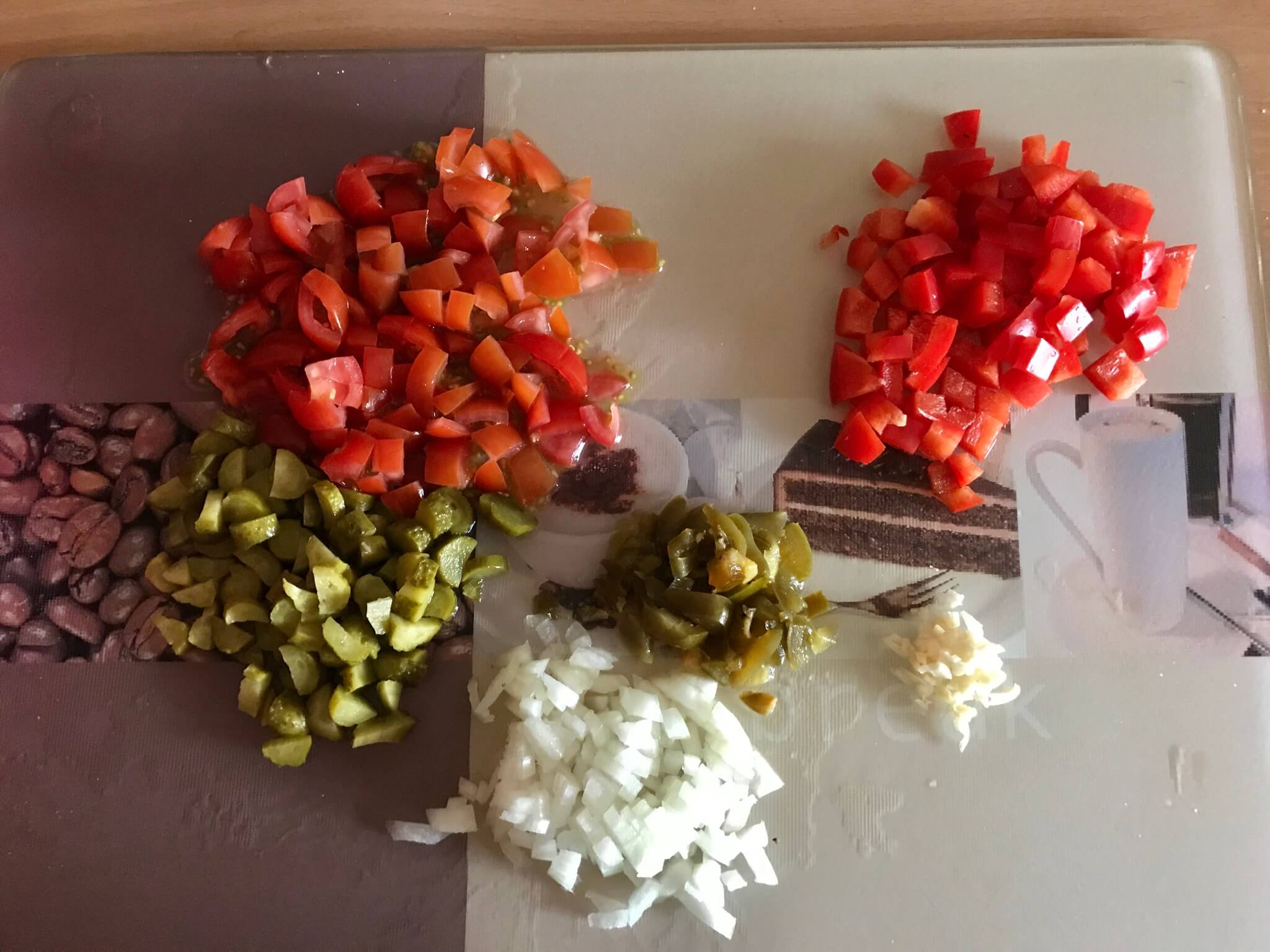 Vorbereitung Mexikanischer Nudelsalat