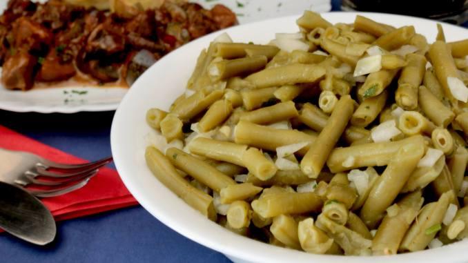 Hausmannskost schneller grüner Bohnensalat