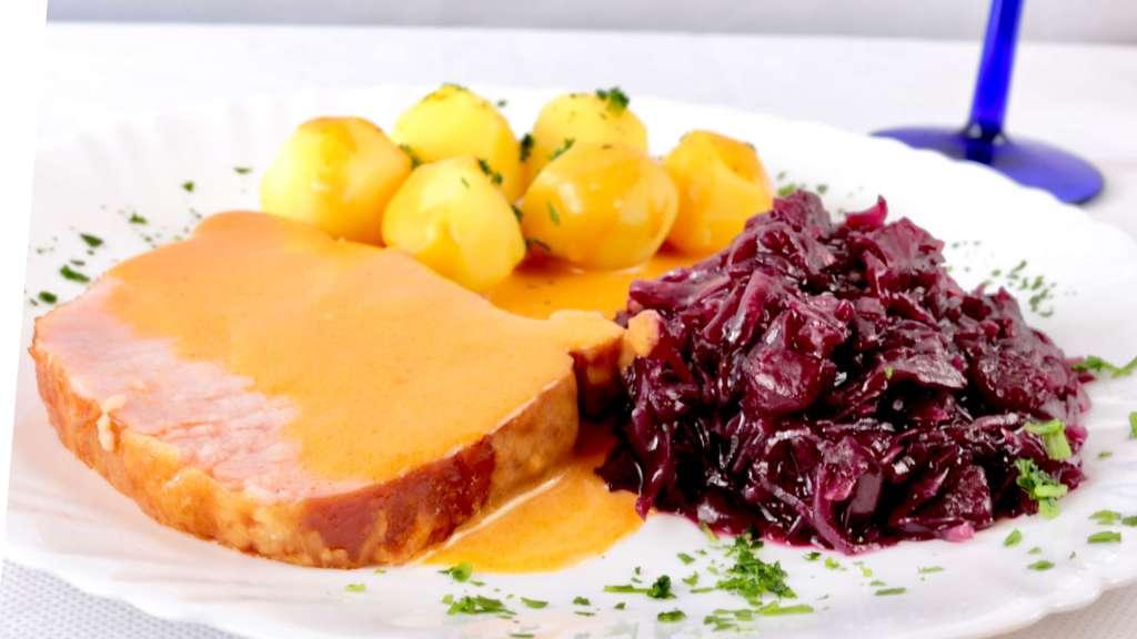 Zubereitung Klassisches Kassler Lachsbraten Rezept