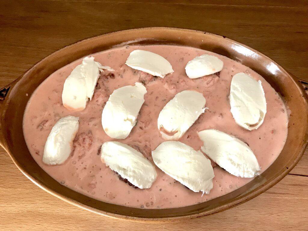 Toscana Hackbällchen mit Mozzarella Käse Zubereitung