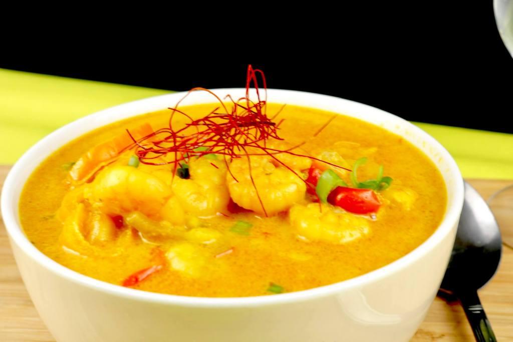 Zubereitung Thai Curry Garnelen Suppe