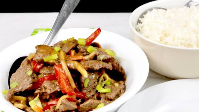 Rindfleisch nach Szechuan Art